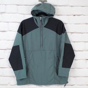 LL Bean VTG Windbreaker Jacket Green Pullover L